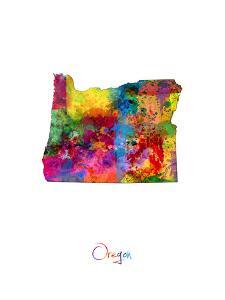 Oregon Map by Michael Tompsett