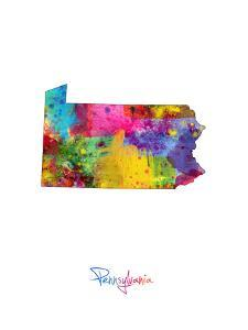Pennsylvania Map by Michael Tompsett