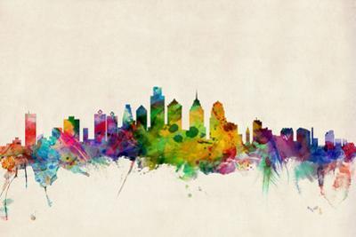 Philadelphia Pennsylvania Skyline by Michael Tompsett
