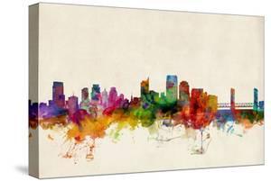 Sacramento California Skyline by Michael Tompsett