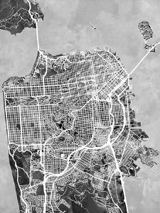 San Francisco City Street Map by Michael Tompsett