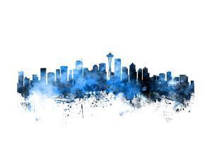 Seattle Washington Skyline by Michael Tompsett