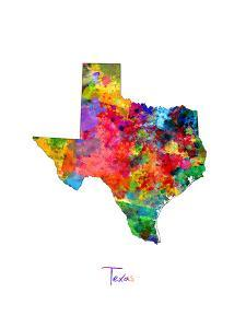 Texas Map by Michael Tompsett
