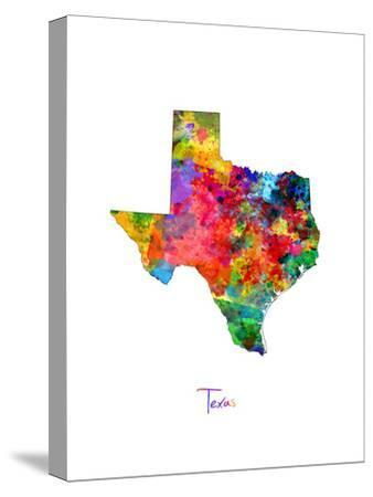 Texas Map by Michael Tompsett
