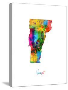 Vermont Map by Michael Tompsett