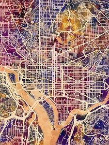 Washington DC City Street Map by Michael Tompsett