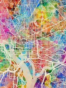 Washington DC City Street Map by Michael Tompsett