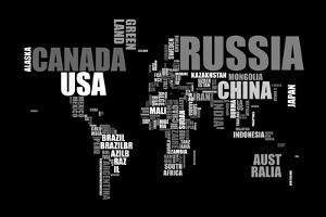 World Text Map by Michael Tompsett