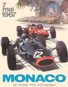 Monaco - 25th Grand Prix Automobile - Formula One F1 by Michael Turner