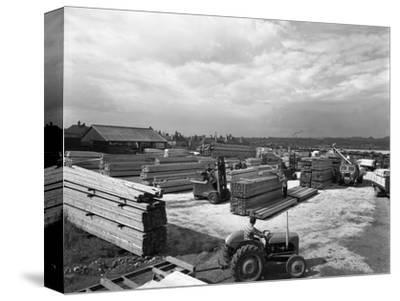 A Busy Timber Yard, Bolton Upon Dearne, South Yorkshire, 1960