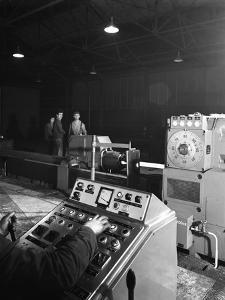 A Continuous Forge in Operation at the Edgar Allen Steel Founders, Meadowhall, Sheffield, 1962 by Michael Walters