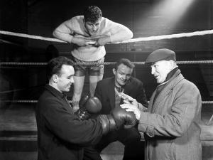 A Miner from Sunderland Gets Some Ringside Boxing Advise, Newcastle, 1964 by Michael Walters