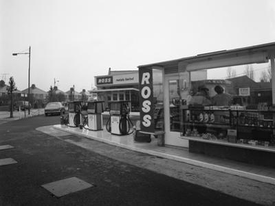 A Petrol Station Forecourt, Grimsby, Lincolnshire, 1965 by Michael Walters