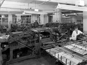 A Print Room, Mexborough, South Yorkshire, 1959 by Michael Walters