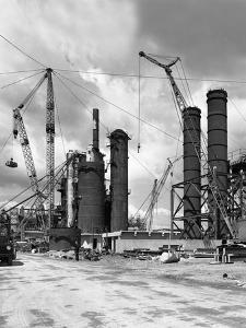 Absorption Towers Being Installed, Coleshill Coal Preparation Plant, Warwickshire, 1962.6th July by Michael Walters