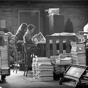 Binding Room at the White Rose Press, Mexborough, South Yorkshire, 1968 by Michael Walters