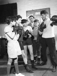 Boxing Training at Horden Colliery Gym, Sunderland, Tyne and Wear, 1964 by Michael Walters