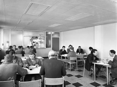 Canteen at Spillers Animal Foods, Gainsborough, Lincolnshire, 1961 by Michael Walters