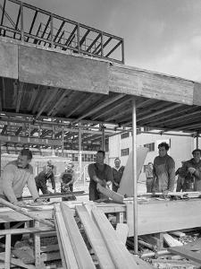 Carpenters on a Building Site, Gainsborough, Lincolnshire, 1960 by Michael Walters