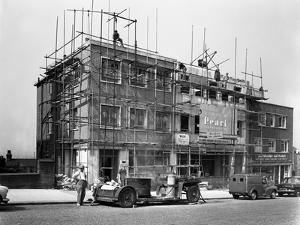 Commercial Shop Unit Construction in Rotherham, South Yorkshire, 1962 by Michael Walters