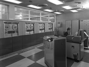 Computer Room Scene, the Park Gate Iron and Steel Co, Rotherham, 1964 by Michael Walters
