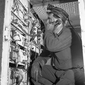 Comunications, a Miner from Bevercotes Colliery, Nottinghamshire, 1967 by Michael Walters