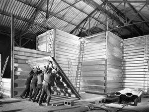 Constructing a New Grain Silo in Navenby, Lincolnshire, 1962 by Michael Walters