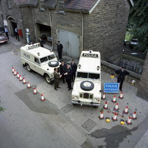 Derbyshire Police Commissioner Taking Delivery of Two New Land Rovers, Matlock, Derbyshire, 1969 by Michael Walters
