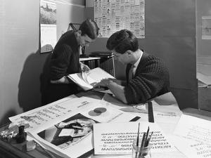 Design Room at a Printing Company, Mexborough, South Yorkshire, 1959 by Michael Walters