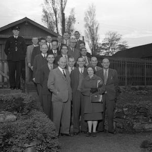 Doncaster Safety Committee Visits an Explosives Factory, Denaby Main, South Yorkshire, 1959 by Michael Walters