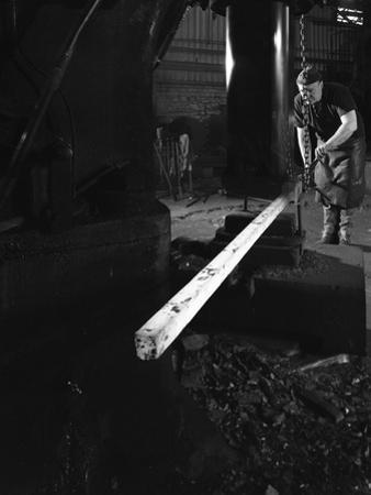 Forging at J Beardsley, Sheffield, South Yorkshire, 1966 by Michael Walters