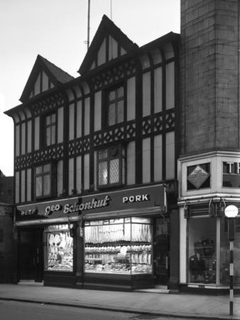George Schonhuts Butchers Shop in Rotherham, South Yorkshire, 1955 by Michael Walters
