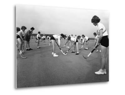 Girls Hockey Match, Airedale School, Castleford, West Yorkshire, 1962