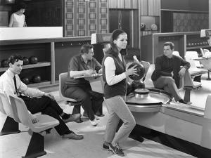 Group of Young People at Silver Blades Bowling Alley, Sheffield, South Yorkshire, 1965 by Michael Walters