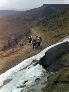 Hikers on Stanage Edge, Hathersage, Derbyshire, 1964 by Michael Walters