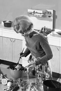 Kitchen Scene, Warwick, Warwickshire, 1966 by Michael Walters