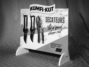Kumfi-Kut range of Secateurs from Champion Scissors, Mexborough, Yorkshire, 1962 by Michael Walters
