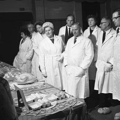 Local Dignitaries During an Open Day at Spillers Foods in Gainsborough, Lincolnshire, 1962 by Michael Walters