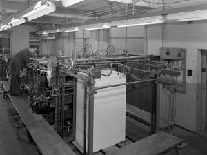 Meilhe Two Colour Printing Machine in Operation at a Printers, Mexborough, South Yorkshire, 1959 by Michael Walters
