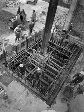 Men at Work at a Construction Site, Gainsborough, Lincolnshire, 1960 by Michael Walters