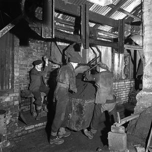 Miners Working in Mitchell Main Colliery Near Barnsley, South Yorkshire, 1956 by Michael Walters