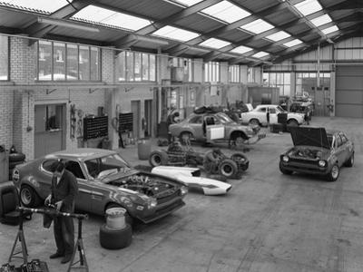 Modified Fords During Race Preparation, Littleborough, Greater Manchester, 1972 by Michael Walters