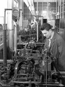 Monotype Casting Machine at a Printing Company, Mexborough, South Yorkshire, 1959 by Michael Walters