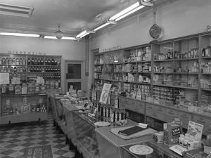 New Lodge Road Co-Op Self Service Supermarket, Barnsley, South Yorkshire, 1957 by Michael Walters