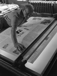 Newspaper Printing, Mexborough, South Yorkshire, 1959 by Michael Walters