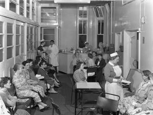 Outpatients Awaiting Treatement at the Montague Hospital, Mexborough, South Yorkshire, 1959 by Michael Walters