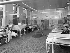 Patients on a Mens Surgical Ward, Montague Hospital, Mexborough, South Yorkshire, 1968 by Michael Walters