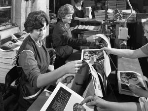 Producing Brochures at the White Rose Press Co, Mexborough, South Yorkshire, 1959 by Michael Walters