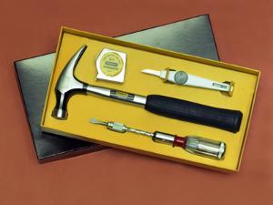 Product shot of a Stanley Tools boxed set from 1986 by Michael Walters
