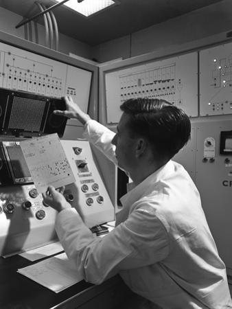 Production Line Control Room, Spillers Animal Foods, Gainsborough, Lincolnshire, 1962 by Michael Walters